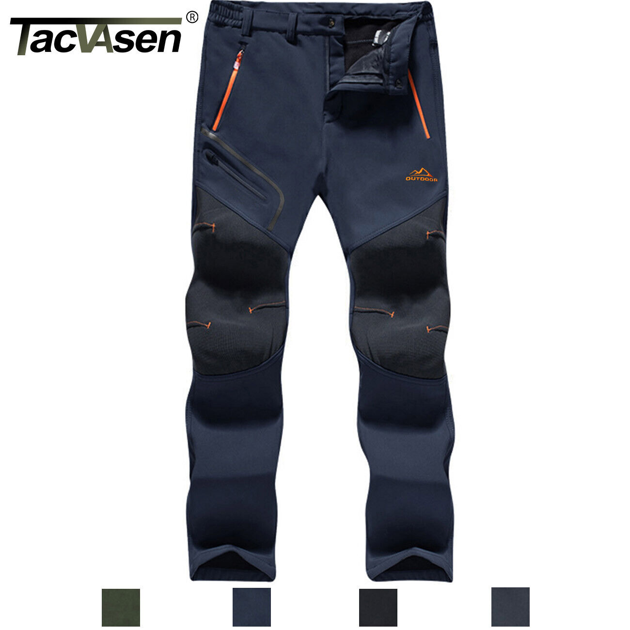 TACVASEN Winter Hiking Fleece Pants Warm Windproof Snow Skii