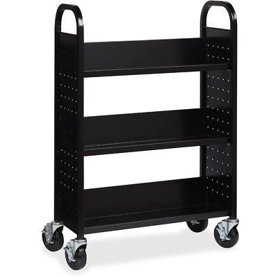 Lorell Single-sided Steel Book Cart (llr-99933) (llr99933) ()