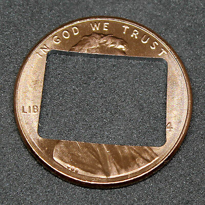 Lucky penny with Colorado cut out
