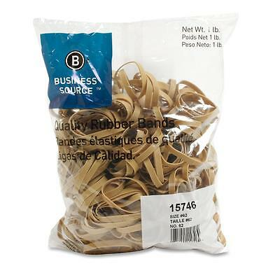 Business Source Rubber Bands Size 62 1 Lb.bg 2-12x14 Natural Crepe 15746
