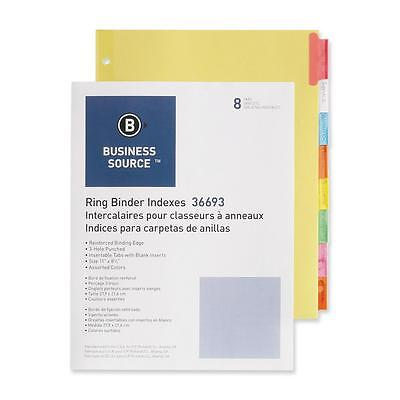 """Business Source Ring Binder Indexes 1-1/2"""" Tabs 11""""x8-1/2"""" 8"""
