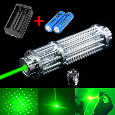 Military 50mw Powerful 532nm Green Laser Pointer Pen Beam Light+18650+Charger