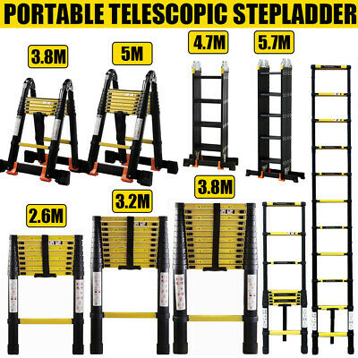 2.6/3.2/3.8/4.7/5/5.7M Multi-Purpose Aluminum Folding Telescopic Steps Ladder