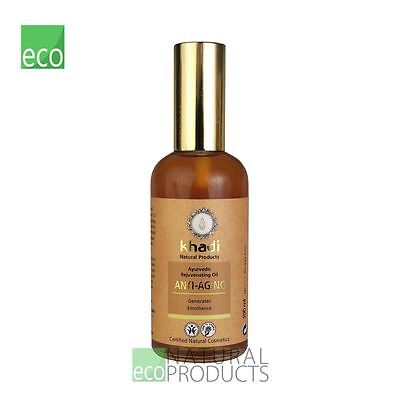 Khadi Ayurvedic Organic Face & Body Oil Anti Ageing Oil Dry Mature Skin 100ml