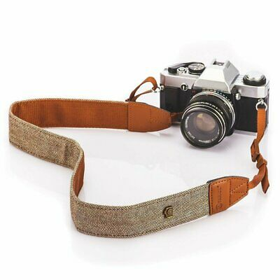 Vintage Classic White and Brown Weave Camera Shoulder Neck Strap Belt Canon DSLR Camera, Drone & Photo Accessories