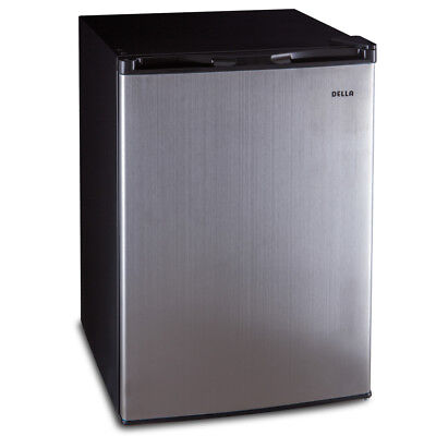 NEW 4.5 cu ft Refrigerator Side Freezer Compact Mini Door Fridge Stainless Steel