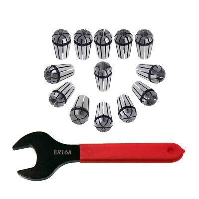 12pcs Er16 Spring Collet Set Er16 A Type Collet Clamping Nut For Cnc Milling