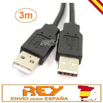 Cable USB 3 metros USB 2.0 A Macho - A Macho Conector...