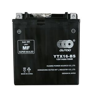 YTX16-BS Motorcycle Battery for Suzuki 1450cc VS1400GL Intruder, GLP, S83 87-11