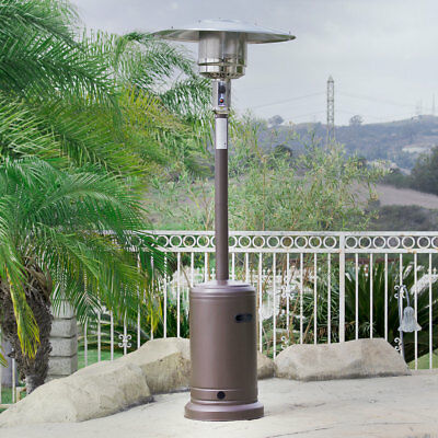 48,000 BTU Outdoor Propane Patio Heater LP Gas with Reguator and Wheel  Mocha