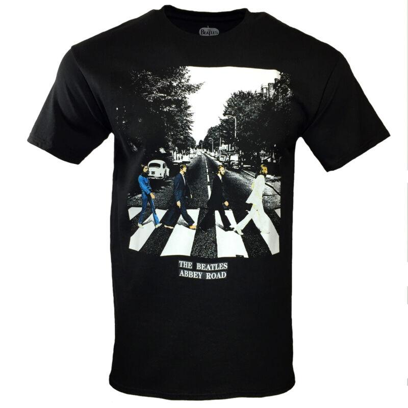 THE BEATLES Mens 2XL Tee T Shirt John Lennon Rock Band Logo Apparel Black NEW