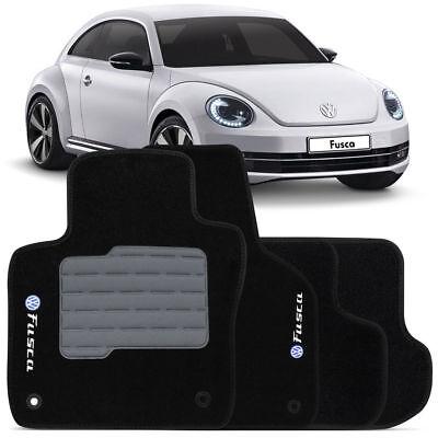 VW New Beetle INTERIOR CARPET FLOOR MAT LOGO BLACK FloorLiner Mats 2012-2017