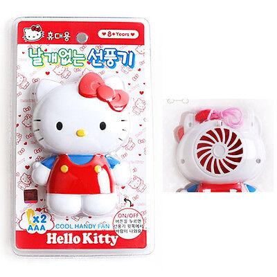 Portable Hello Kitty Mini Electric fan Cute Safe Summer Fan without wing