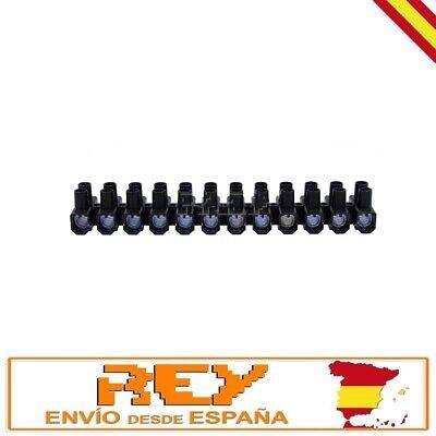 Regleta Empalmes 12 Secciones para Cables de 2,5mm Conexión Eléctrica 3A v459