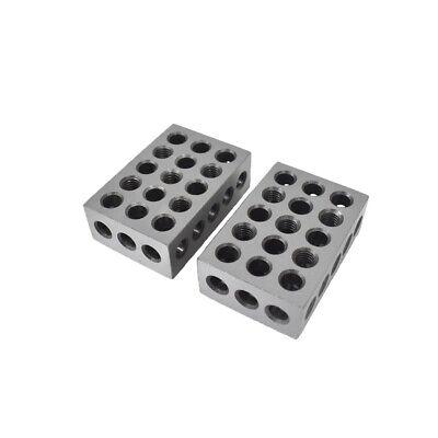 123 Blocks 1-2-3 Ultra Precision .0002 Hardened 23 Holes 0.0002 New 2 Pcs