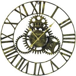 """Large Modern Decorative Wall Clock, 24"""" Round - Roman Numeral - Home Room Décor"""