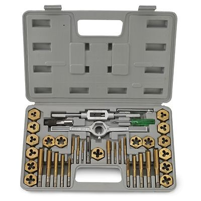 40 Pc Titanium Coated Metric Tap And Die Set Standard Heavy Duty