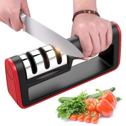 Messerschleifer mit Messerschärfer Profi-Küchenmesserschärfer 3-in-1 Manuelles