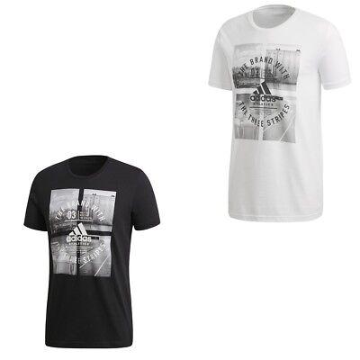 Schwarzes Baumwoll-t-shirt (adidas t shirt Männer weiß Herren Baumwoll T-Shirt Tee Hemd schwarz S-XXXL)