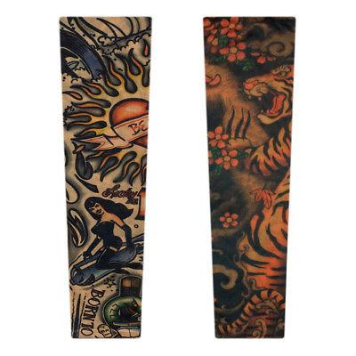 Tattoo Sleeve Tattooärmel Strumpf Fake Skin Fasching Karneval Kostüm - Kostüm Tattoo Ärmel