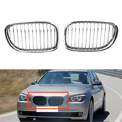 2X For BMW F01 F02 740i 750i 760i 2009 2010 2011 2012 Grill Front Bumper Grille