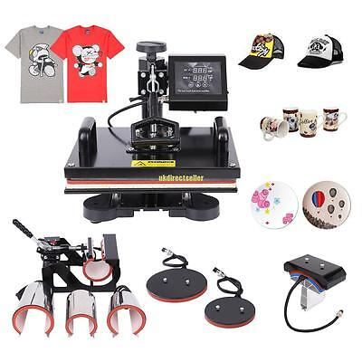 Swing Away 8 In 1 Transfer Sublimation T-shirt Mug Plate Cap Heat Press Machine