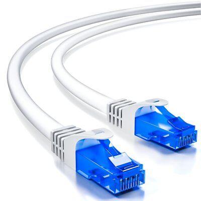deleyCON 10m CAT6 Patchkabel Netzwerkkabel Ethernet LAN DSL Kabel Weiß