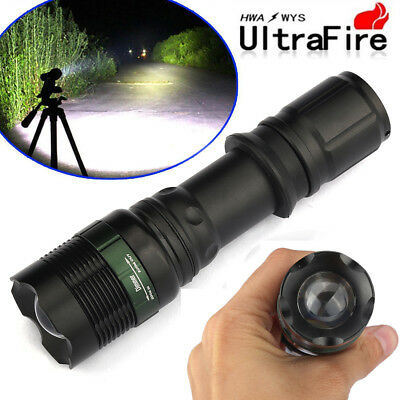 Ultrafire 90000Lumens High Power T6 Tactical Zoomable 18650 LED Flashlight Torch