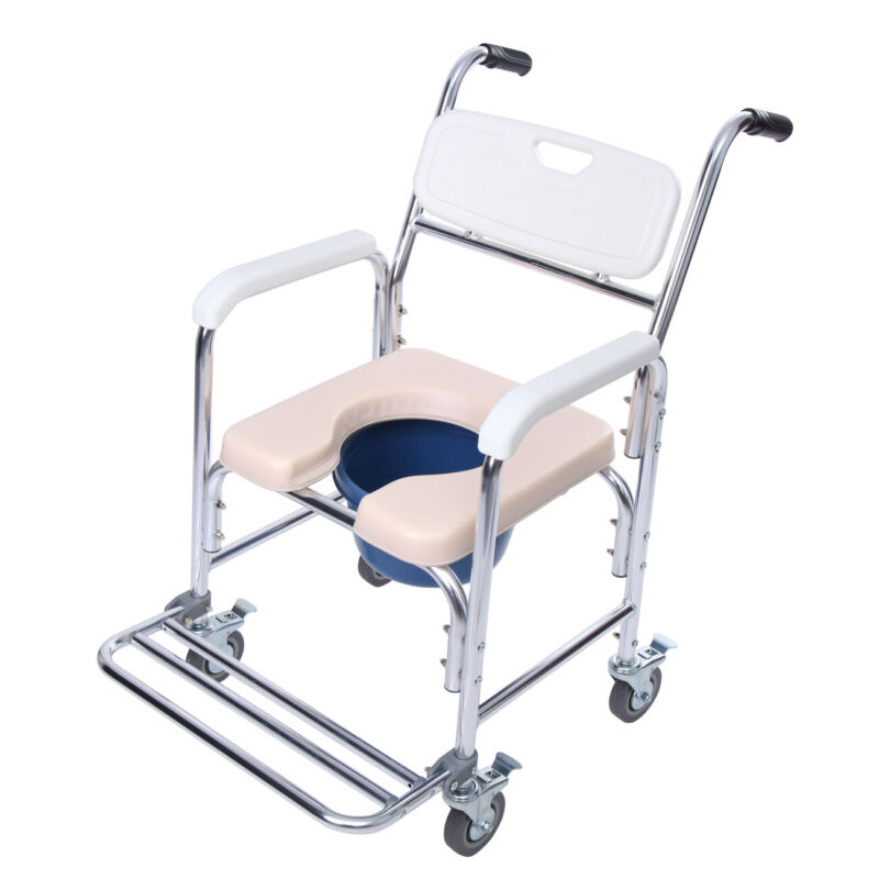 Adult Toilet Seat Potty Shower Commode Wheelchair Chair Beds