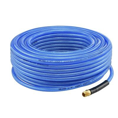 """1/4"""" NPT Fitting x 50 FT Air Compressor PU Hose Roofing Framing Carpentry New"""