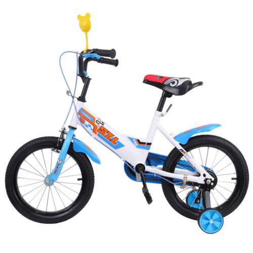 Fahrrad Kinderfahrräder 16Zoll Kinderfahrrad Mädchen Jungen Kinder Rad Bike Blau