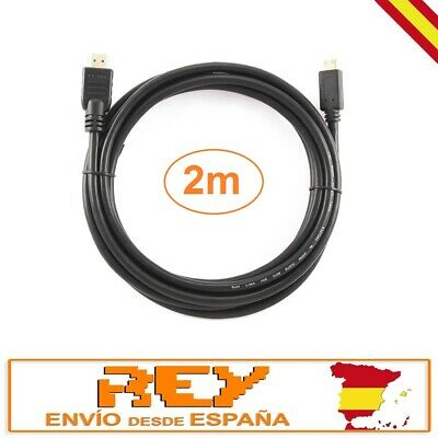 CABLE Mini HDMI a HDMI 1.4 2m adaptador conversor 19 Pines Extensión...