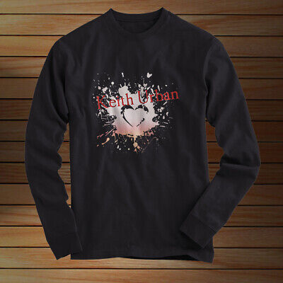 Keith Urban- Long Sleeves T Shirt Black All Size