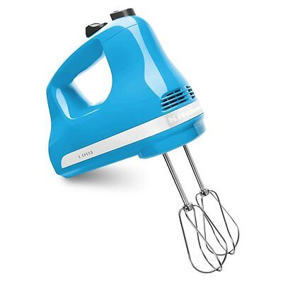 مضرب يدوي جديد KitchenAid KHM512CL 5-Speed Ultra Power Hand Mixer, Crystal Blue — New