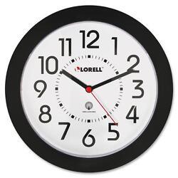 Lorell Wall Clock Arabic Numerals 9 White Dial/Black Frame 60990
