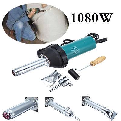 1080w Hot Air Plastic welding Gun welder Kit with PE PVC Plastic Rod & Roller