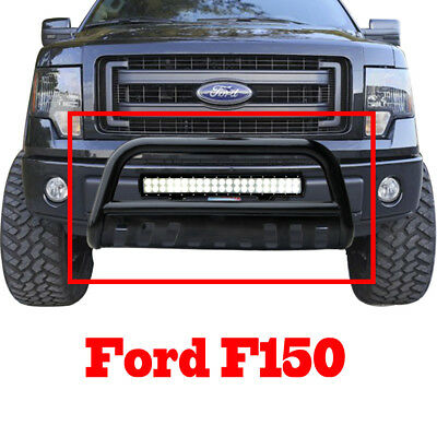 F-150 04-17/ Expedition 03+ BLK Bull Bar Bumper Grill Guard+126W CREE LED Light
