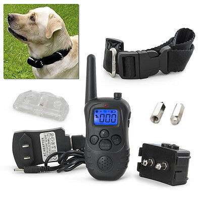 Electric Trainer E-Collar Waterproof Remote Pet Safe Dog Shock Collar Training