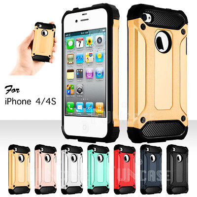 Black Hard Case Screen (For iPhone 4 4S Black Rugged Rubber Matte Hard Case Cover with Screen Protector  )
