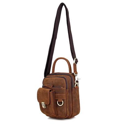 SheriFF XL Belt Bag Waist Pouch Bag Vintage Genuine Black Leather Cowboy Click