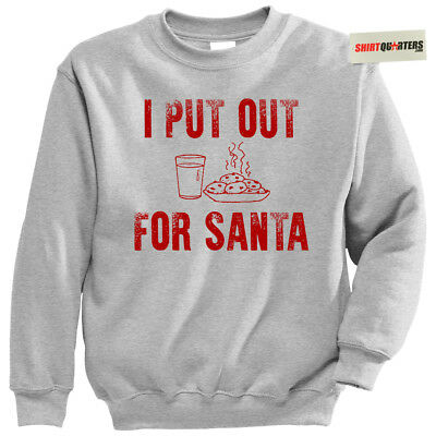 I Put Out For Santa Mrs Miss Claus costume lingerie Christmas sweater - Miss Claus Lingerie