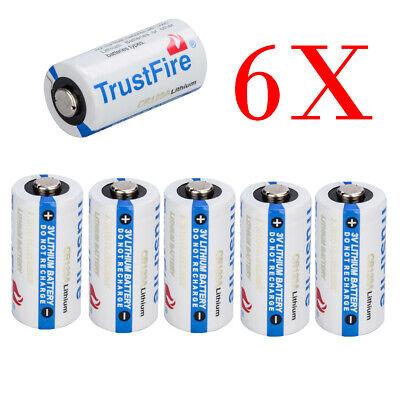 TrustFire Flashlight 85177 CR123A 3 Volt Lithium Batteries, 6Pack Exp 2027 USA