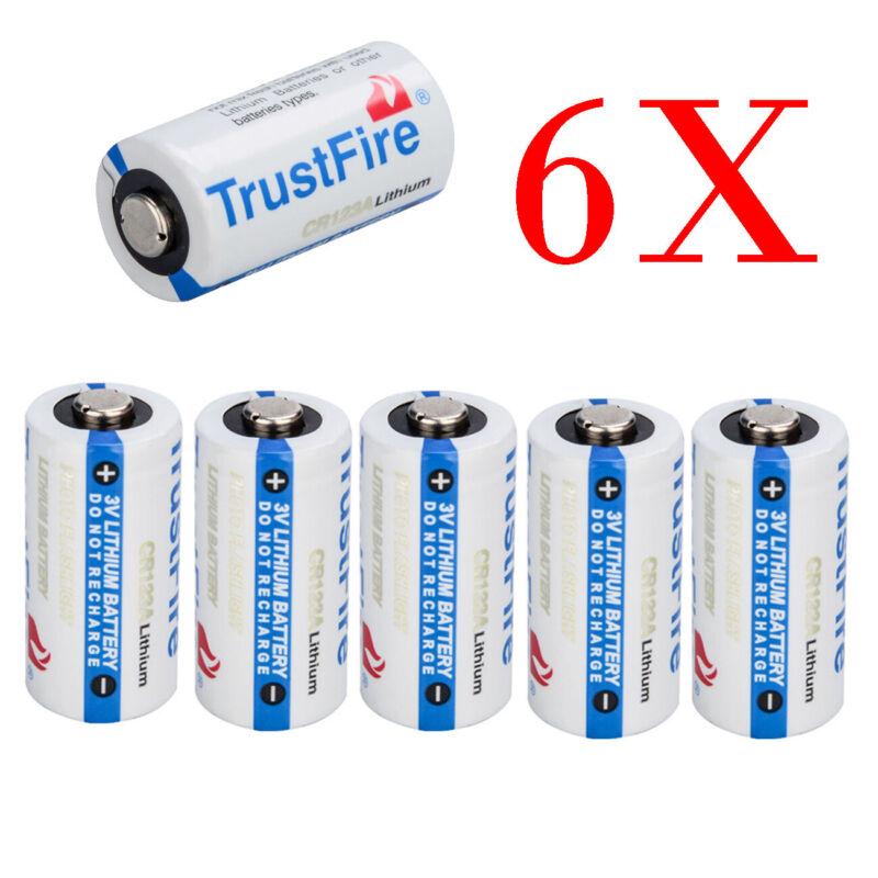 6x Batteries Flashlight 85177 CR123A 3 Volt Lithium Batteries, 6Pack Exp 2027 US