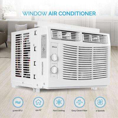DELLA 5,000 BTU Window-Mounted Air Conditioner AC Unit Cool
