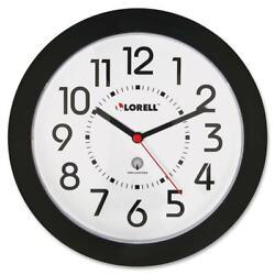 Lorell Black Radio Controlled Wall Clock N/A