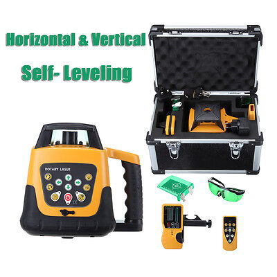 Automatic Self-leveling Rotary Laser Level Green Beam 500m Range Remote Control