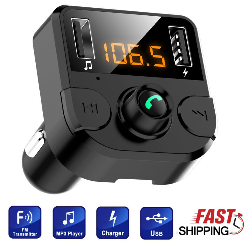 In Car Bluetooth FM Transmitter MP3 Radio Wireless Adapter Handsfree USB Charger