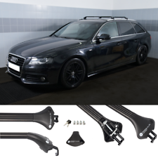 Dachträger silber für Audi A4 B6 B7 Avant Kombi 02-07 mit offener Dachreling