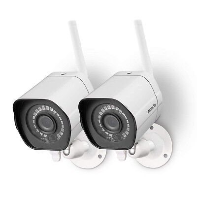 Zmodo 720p HD Outdoor Home Wifi Security Video Cameras System ( 2 Pack )