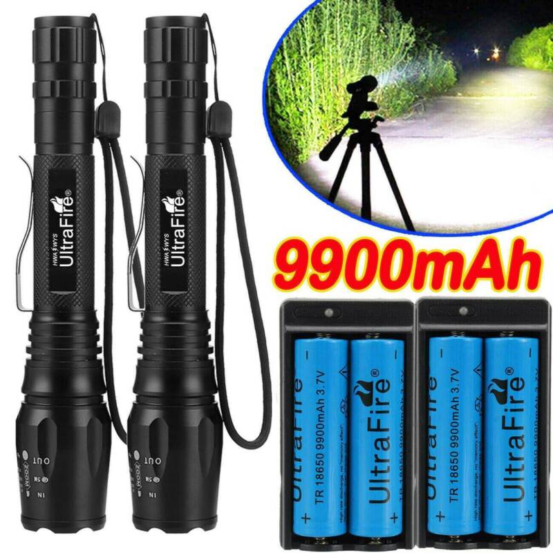 350000LM T6 LED Rechargeable High Power Torch Flashlight Lamp Light Charger UK
